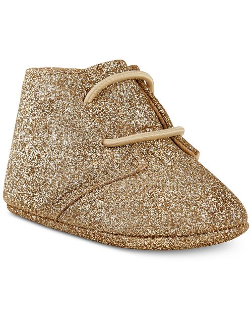First Impressions Baby Girls Metallic Glitter Chukka Boots, Created for Macy's