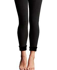 Womens Faux Fur Lined Legging