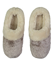 Lemon Tipped Fur Scuff Slipper