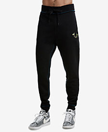 True Religion Men's Metallic Puff Print Cuffed Sweatpants