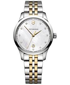 Women's Swiss Alliance Two-Tone Stainless Steel Bracelet Watch 35mm