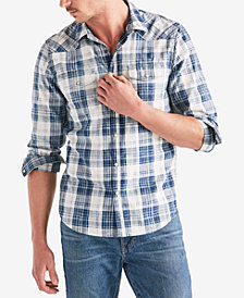 Lucky Brand Men's Western Plaid Shirt