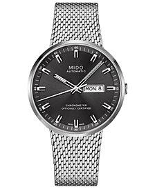 Mido Men's Swiss Automatic Commander II Cosc Stainless Steel Mesh Bracelet Watch 42mm