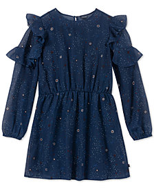 Tommy Hilfiger Big Girls Printed Chiffon Dress