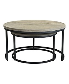 Drey Round Nesting Coffee Tables Set Of Two