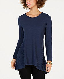 Style & Co Petite Handkerchief-Hem Sweater, Created for Macy's