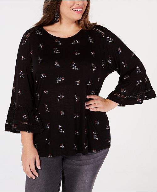 52a040abbe4 Lucky Brand. Trendy Plus Size Embroidered Peasant Top. 2 reviews. main  image  main image