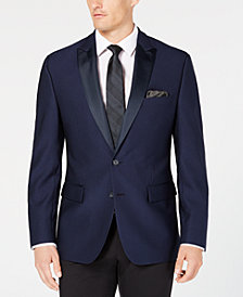 Ryan Seacrest Distinction™ Men's Modern-Fit Stretch Bright Navy Jacquard Dinner Jacket, Created for Macy's