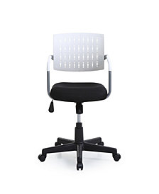 Mid-Back, Adjustable Height, Swiveling Desk Chair with Padded Seat and Breathable Back Rest