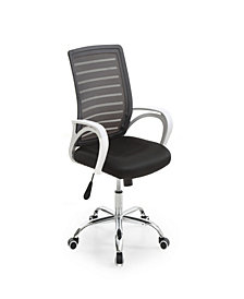 Mesh, Mid-Back, Adjustable Height, Swiveling Office Chair with Padded Seat and Chrome base in Black