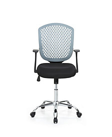 Mid-Back, Adjustable Height, Swiveling Desk Chair with Padded Seat, Chrome Base and Breathable Back Rest