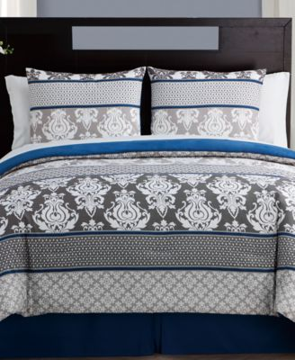 Beckham 8-Pc. Damask Full Bed-in-a-Bag Set