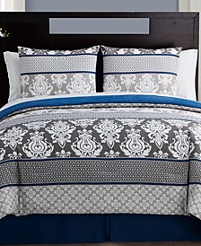 Beckham 8-Pc. Damask Bed-in-a-Bag Set Collection