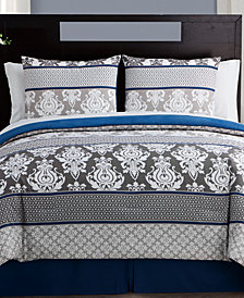 VCNY Home Beckham 8-Pc. Queen Damask Bed-in-a-Bag Set