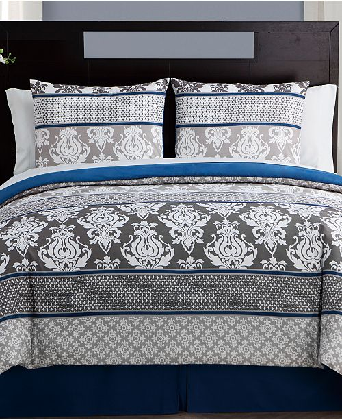 VCNY Home Beckham 8-Pc. Damask Bed-in-a-Bag Set Collection