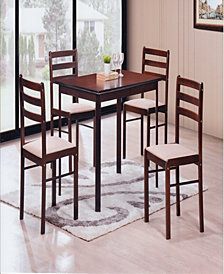 5-Piece Dinette Set in Cappuccino