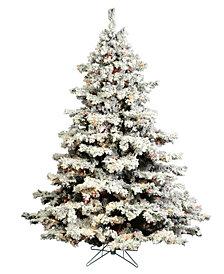 Vickerman 4.5' Flocked Alaskan Pine Artificial Christmas Tree with 200 Multi G50 Lights