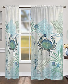 "Blue Crab 84"" Sheer Window Panel"