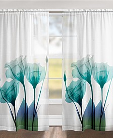 "Ombre Bloom 84"" Sheer Window Panel"