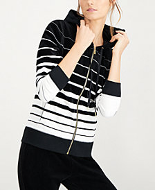 Calvin Klein Striped Hooded Active Jacket