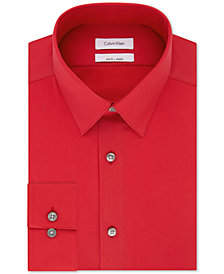 Calvin Klein Men's Slim-Fit Performance Non-Iron Stretch Infinite Color Dress Shirt