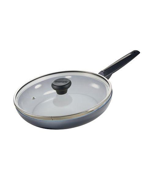"Moneta Azul Gres Ceramic Non-Stick Forged Aluminum Fry Pan 10"" with Lid"