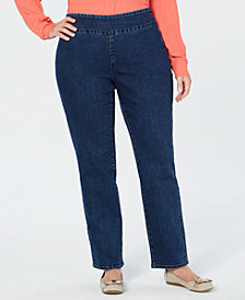Charter Club Plus Size Bristol Pull-On Ankle Jeans, Created for Macy's