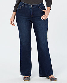 Charter Club Plus Size Prescott Tummy-Control Bootcut Jeans, Created for Macy's