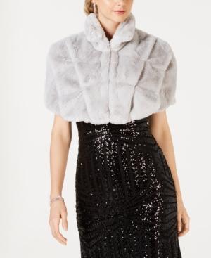 Shawls & Wraps | Vintage Lace & Fur Evening Scarves Tahari Asl Faux-Fur Capelet $99.00 AT vintagedancer.com