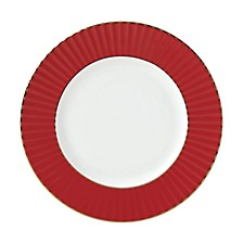 Pleated Colors Red Salad Plate