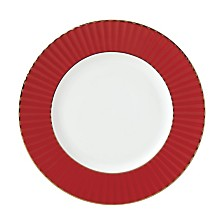 Lenox Pleated Colors Red Salad Plate