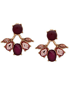 lonna & lilly Gold-Tone Multi-Stone Front & Back Earrings