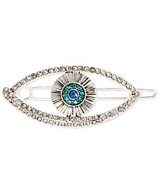 lonna & lilly Silver-Tone Crystal Evil Eye Hair Barrette, Created for Macy's