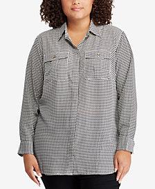 Lauren Ralph Lauren Plus Size Houndstooth Shirt