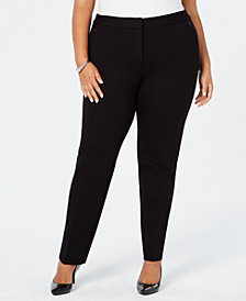 Alfani Plus Size Ponté-Knit Pants, Created for Macy's