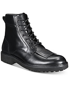 I.N.C. Men's Brix Kiltie Leather Boots, Created for Macy's
