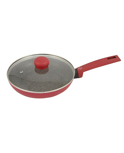 """Moneta Riviera Non-Stick Forged Aluminum 10"""" Fry Pan with Lid"""