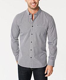 Calvin Klein Men's Set Placket Gingham Shirt