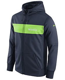 Nike Men's Seattle Seahawks Seismic Therma Full-Zip Hoodie