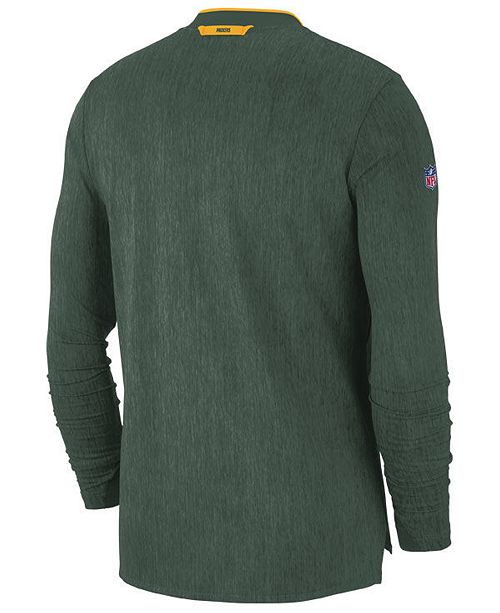 Nike Men s Green Bay Packers Coaches Quarter-Zip Pullover - Sports ... f685aab09