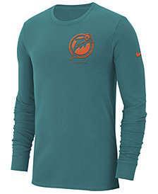 Nike Men's Miami Dolphins Heavyweight Seal Long Sleeve T-Shirt