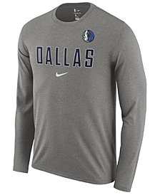 Nike Men's Dallas Mavericks Essential Facility Long Sleeve T-Shirt