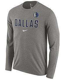 Nike Men's Dallas Mavericks Essential Facility Long Sleeve T-Shirt