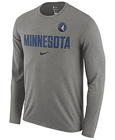 Nike Men's Minnesota Timberwolves Essential Facility Long Sleeve T-Shirt
