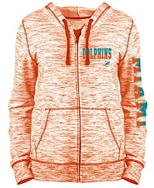 5th & Ocean Women's Miami Dolphins Space Dye Full-Zip Hoodie