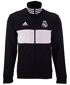 adidas Men's Real Madrid Club Team 3 Stripe Track Jacket