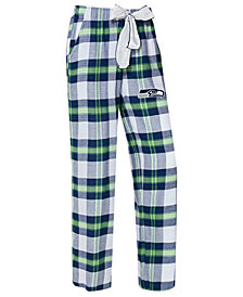 Concepts Sport Women's Seattle Seahawks Headway Flannel Pajama Pants