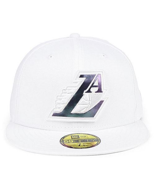 finest selection 7c7e1 4c0c6 ... closeout new era. los angeles lakers iridescent combo 59fifty fitted cap.  be the first