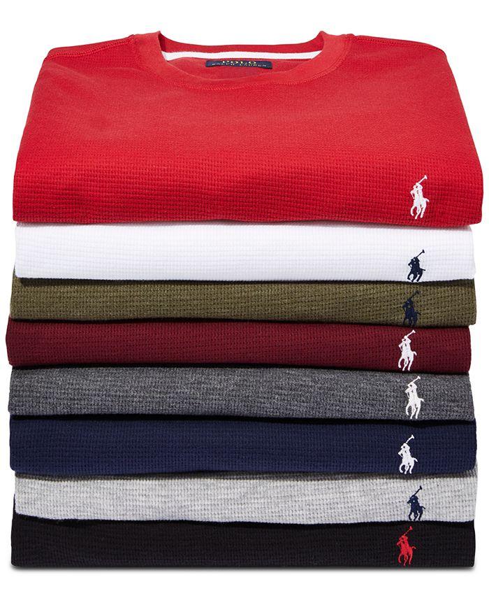 Polo Ralph Lauren - Men's Big & Tall Long Waffle Crewneck Pajama Shirt