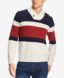 Tommy Hilfiger Men's Spokane Stripe Shawl-Collar Sweater, Created for Macy's